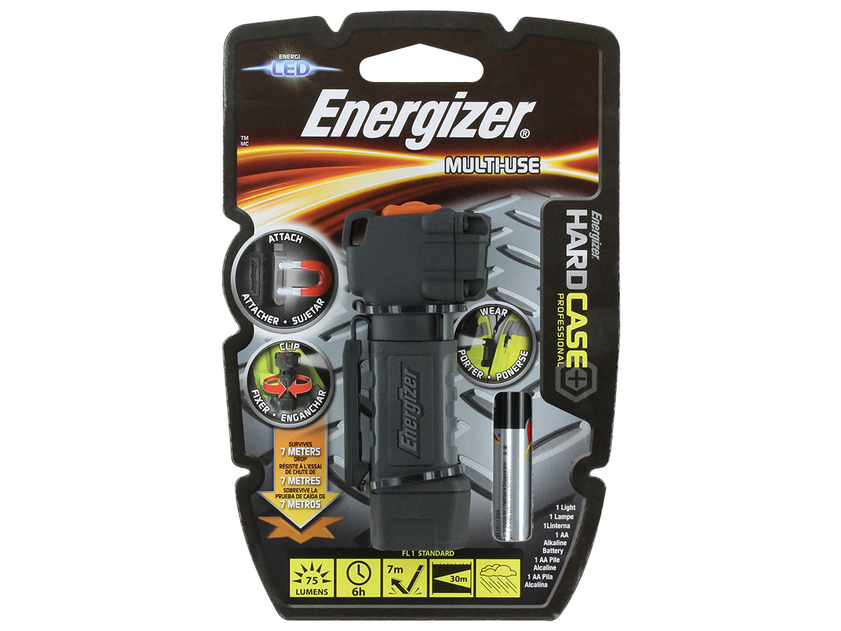 Package shot of the hard case energizer LED flashlight