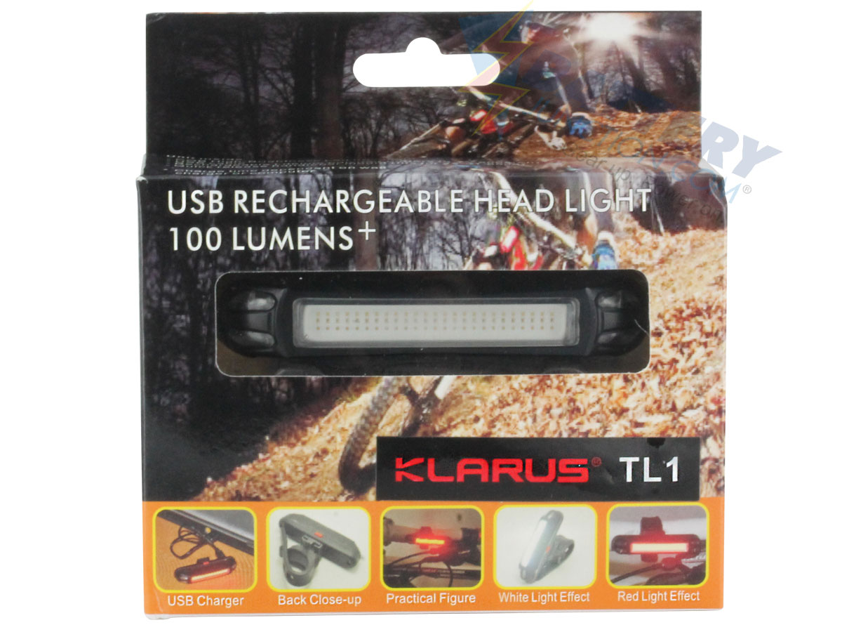 Packaging for Klarus TL1 bike light