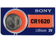 Sony CR1620 75mAh 3V Lithium (LiMnO2) Coin Cell Watch Battery - 1 Piece Tear Strip, Sold Individually