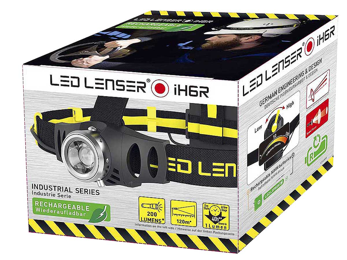 iH6R Rechargeable LED Headlamp packaging