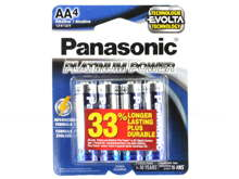 Panasonic Platinum Power LR6XE-4B AA 1.5V Alkaline Button Top Batteries - 4-Pack Retail Card