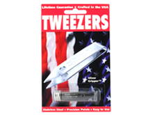 Sliver Gripper Tweezers with Either Recloseable Tube (0600) or Keychain Clip Holder (0601)