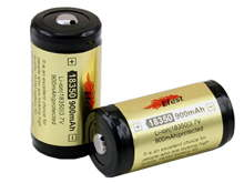 Efest 3400 18350 900mAh 3.7V Protected Lithium Ion (Li-ion) Button Top Battery - Boxed
