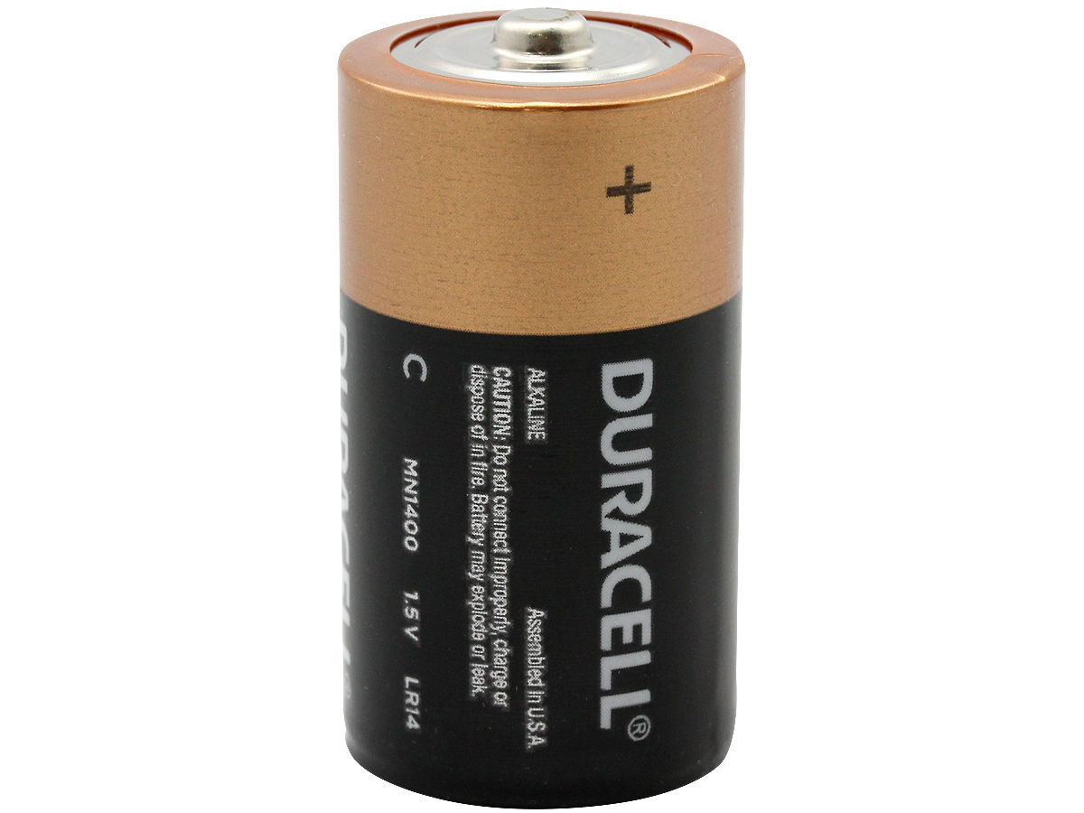 Standing Shot of the Duracell MN1400 C-cell Battery