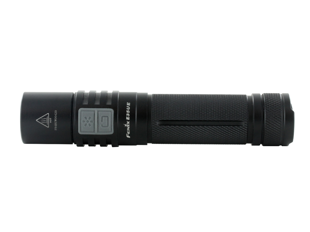 Side profile of Fenix E35UE flashlight
