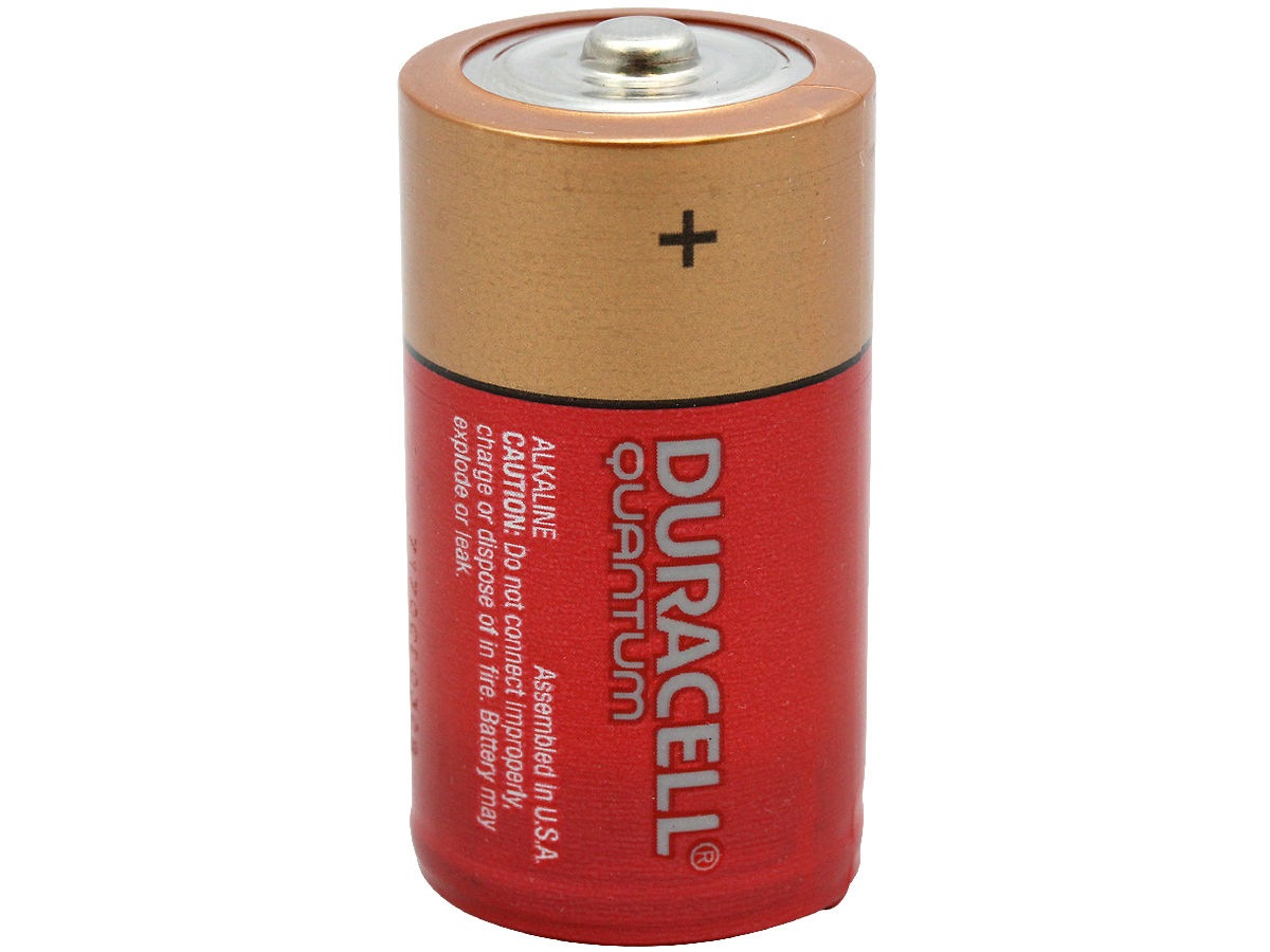 Standing Shot of the Duracell Quantum QU1400 C Battery