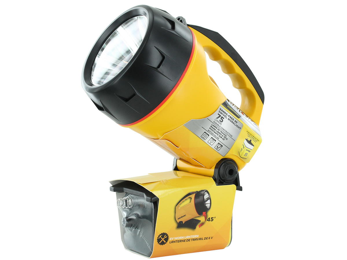 Rayovac Industrial Krypton Floating Lantern with swivel head in action