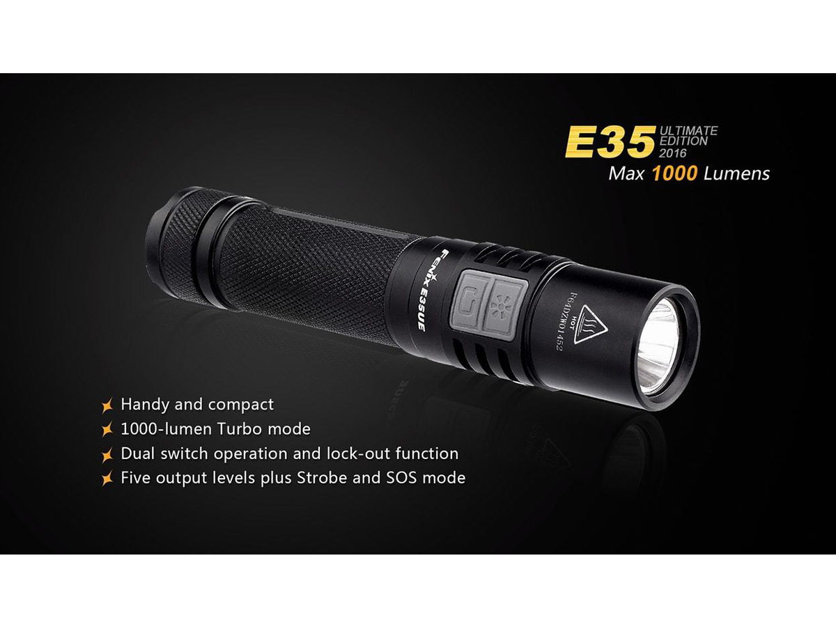 Slide one for Fenix E35UE flashlight