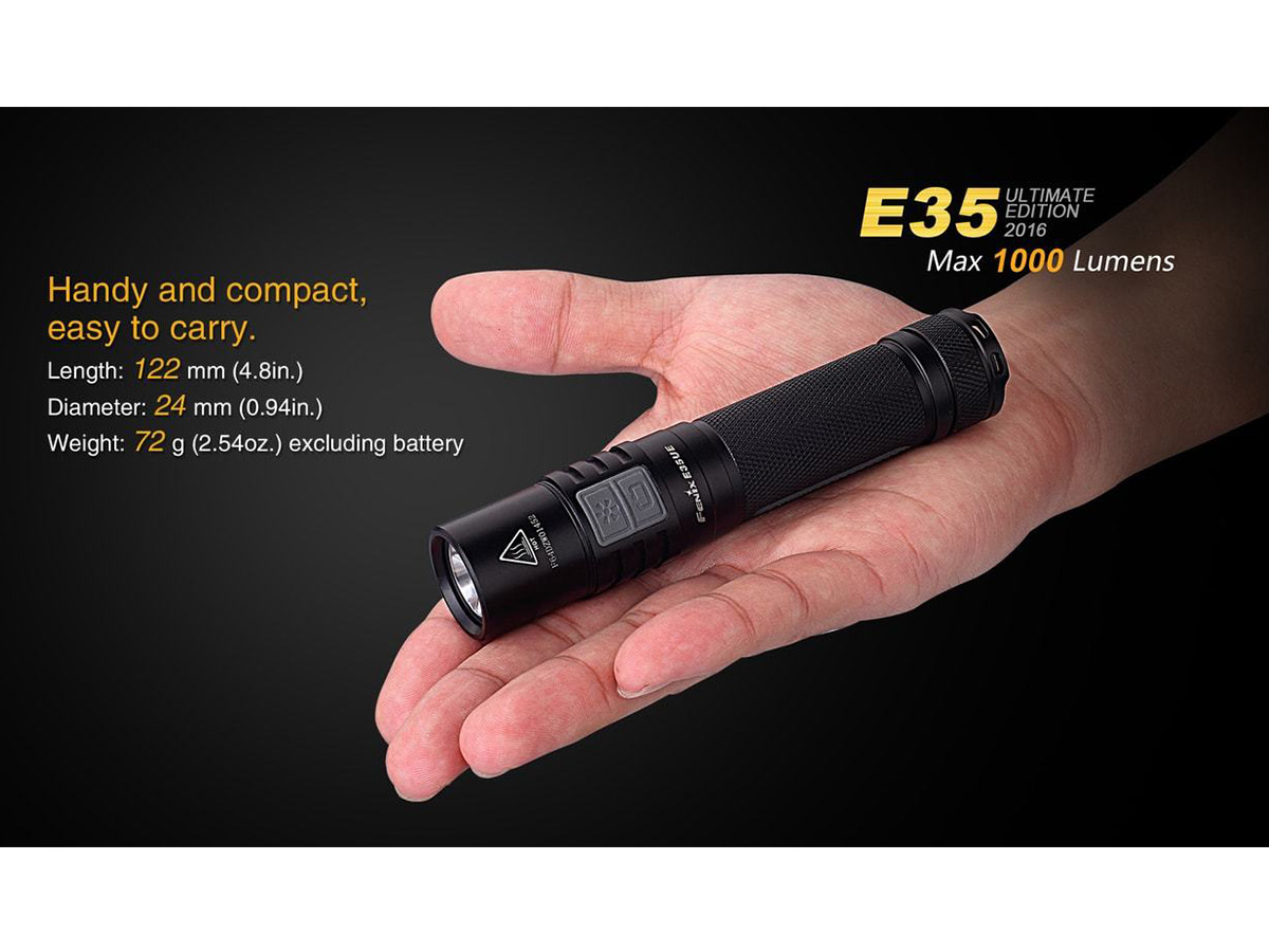 Slide two for Fenix E35UE flashlight