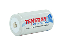 Tenergy Premium 10208 C-cell 5000mAh 1.2V Nickel Metal Hydride (NiMH) Button Top Battery - Bulk