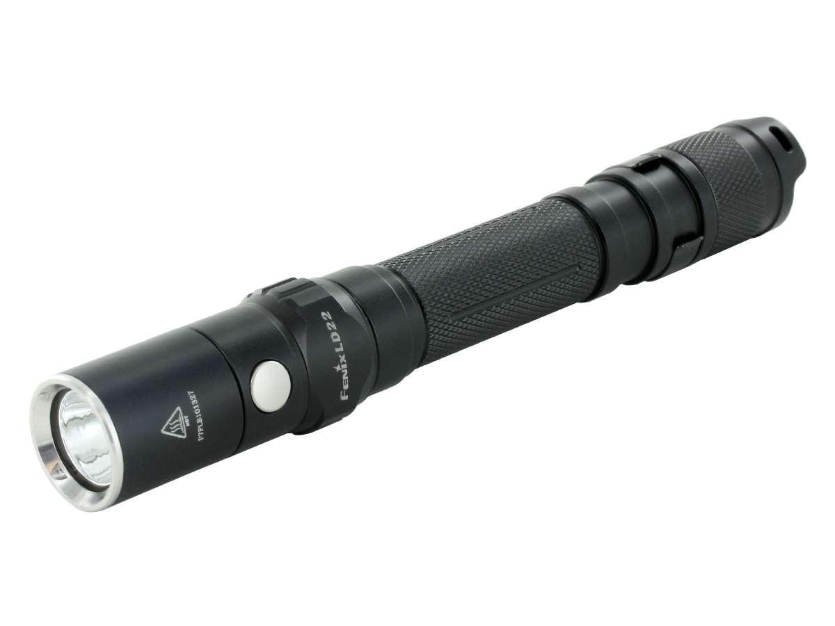 Fenix LD22 flashlight left side angle