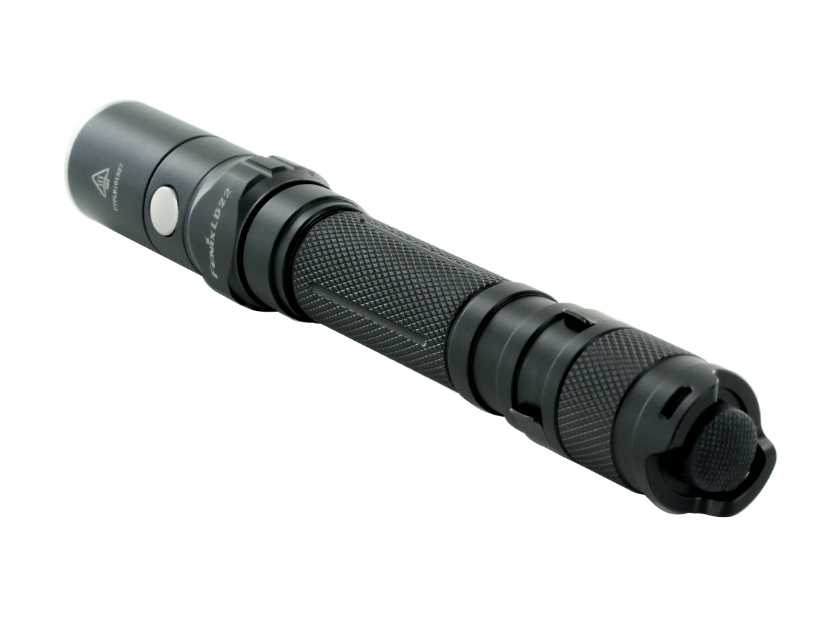 Fenix LD22 flashlight right side angle