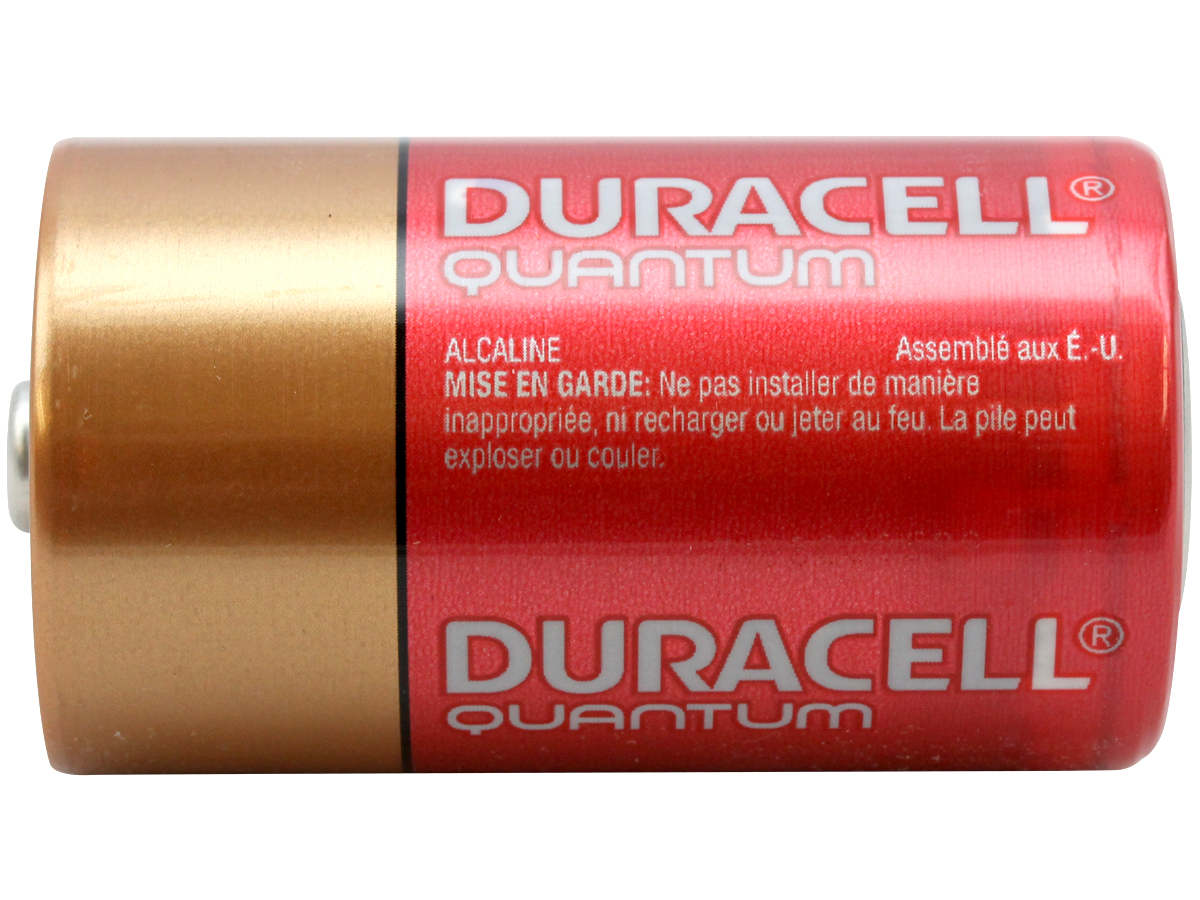 Side Shot of the Duracell Quantum QU1300 D Battery