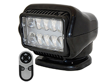 GoLight Stryker LED Spotlight w/ Wireless Handheld Remote - Magnetic Mount - Black (30515)