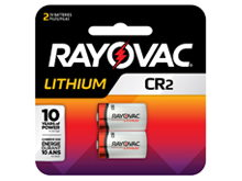 Rayovac Specialty CR2 850mAh 3V Lithium Primary (LiMNO2) Button Top Photo Batteries - 2 Piece Retail Card (RLCR2-2G)