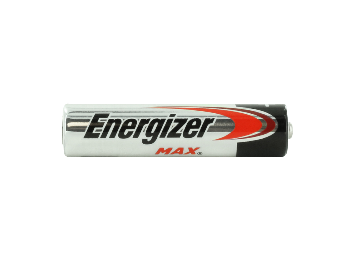 Energizer E92 AAA battery side profile