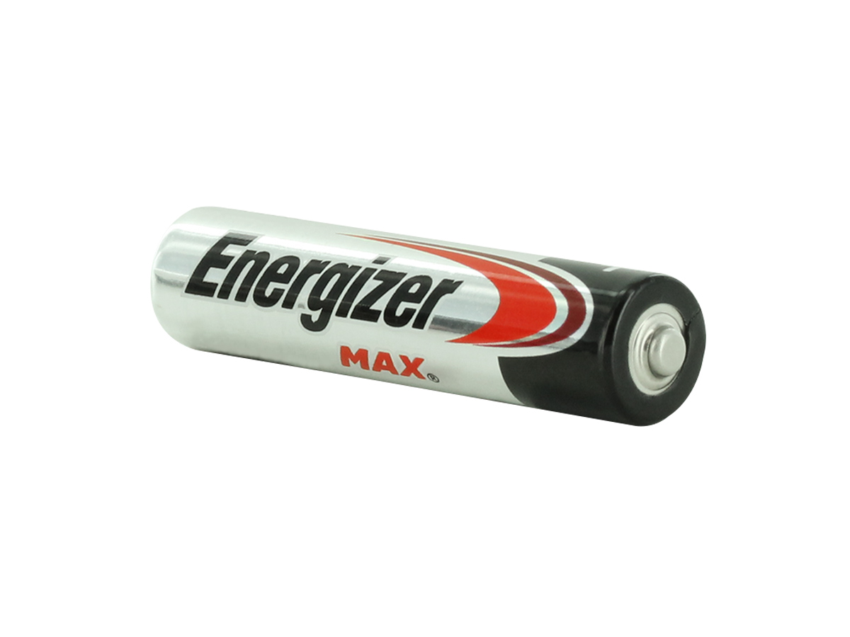 Energizer E92 AAA battery left side angle