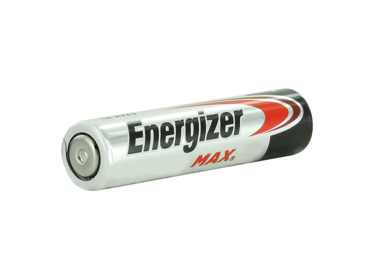 Energizer E92 AAA battery right side angle