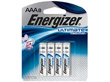 Energizer UltimateLithium AAA 1250mAh 1.5V 1.5A Lithium (LiFeS2) Button Top Batteries - 8 Piece Retail Card (L92SBP-8)