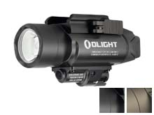 Olight Baldr Pro Weapon Light with Green Laser - Black or Desert Tan - 1350 Lumens - Includes 2 x CR123A