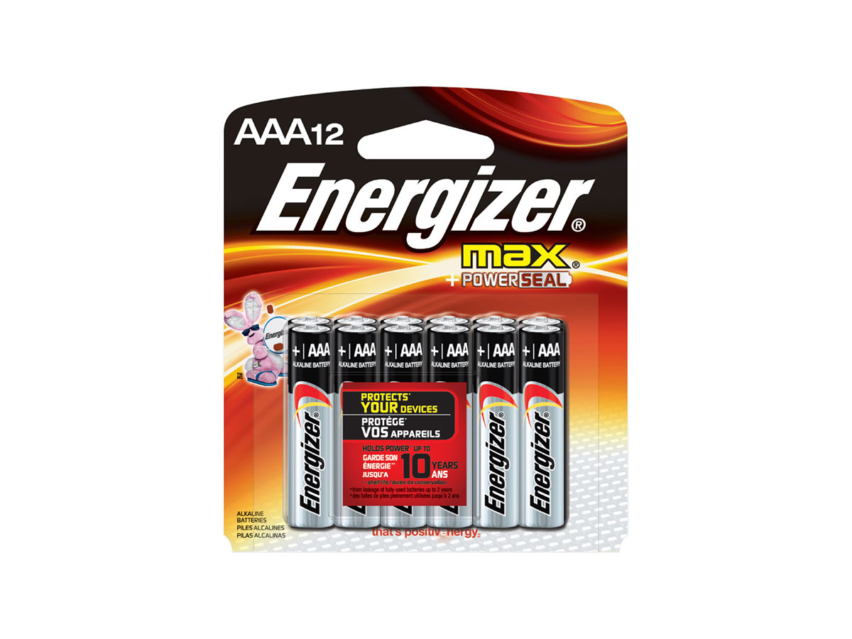 Energizer Max AAA 12 Pack Batteries