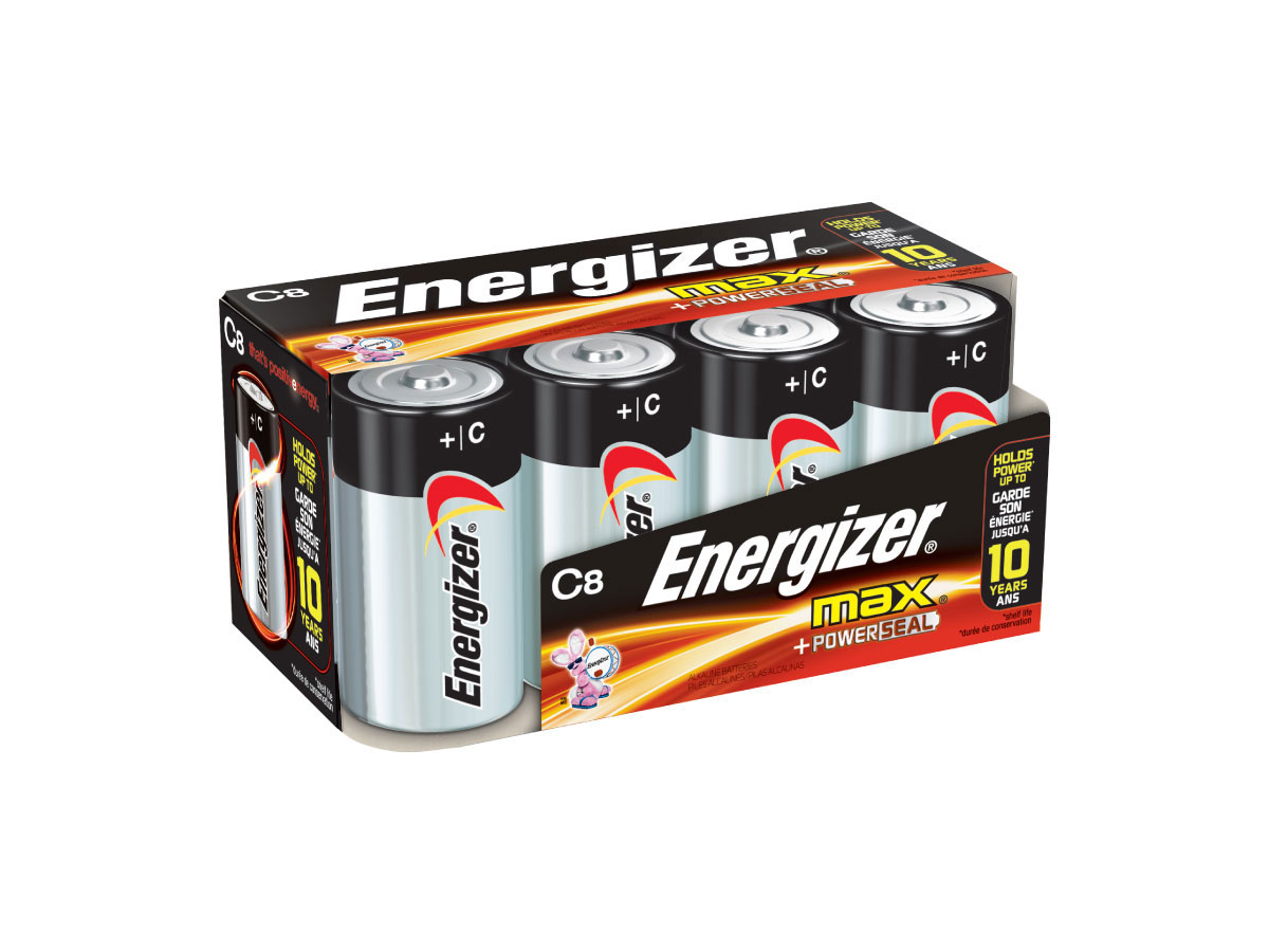 Energizer Max E93 C battery in 8 piece family pack