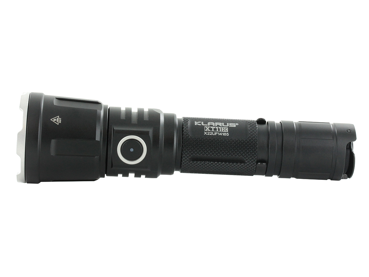 Klarus XT11X Rechargeable LED Flashlight horizontal