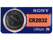 Sony CR2032 220mAh 3V Lithium (LiMnO2) Coin Cell Watch Battery - 1 Piece Tear Strip, Sold Individually