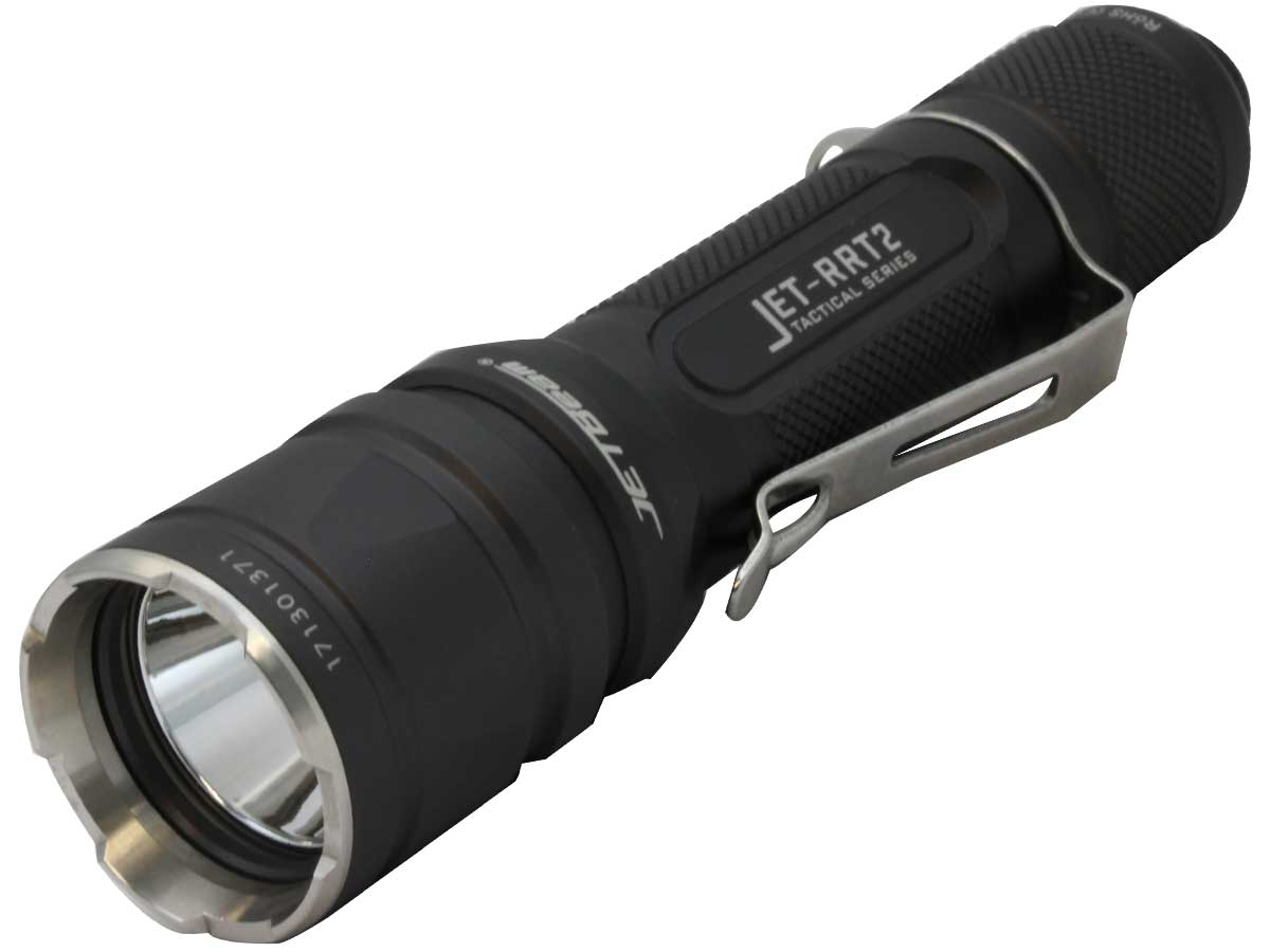 LED flashlight with a pocket clip