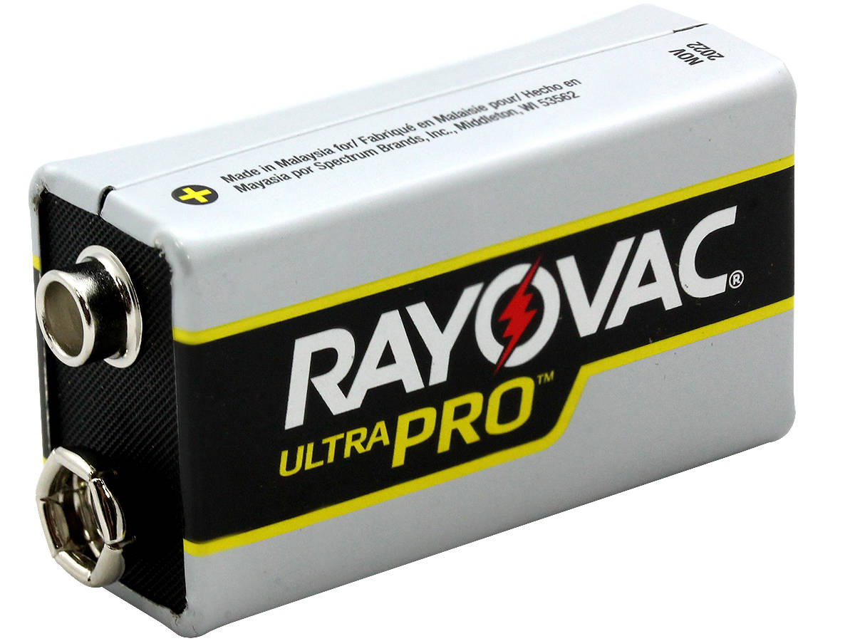 Angle Shot of the Rayovac Ultra Pro AL-9V