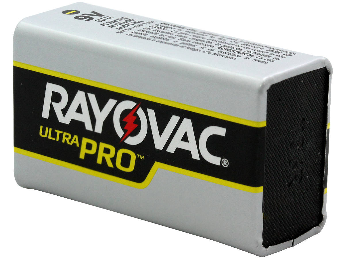 Bottom Shot of the Rayovac Ultra Pro AL-9V