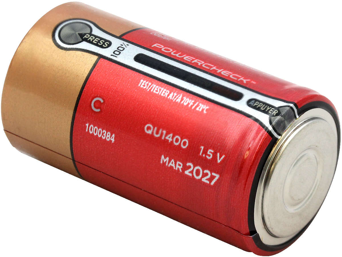 Bottom Shot of the Duracell Quantum QU1400 C Battery