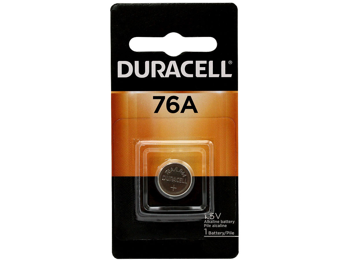 Duracell PX76A LR44 Battery Retail Card