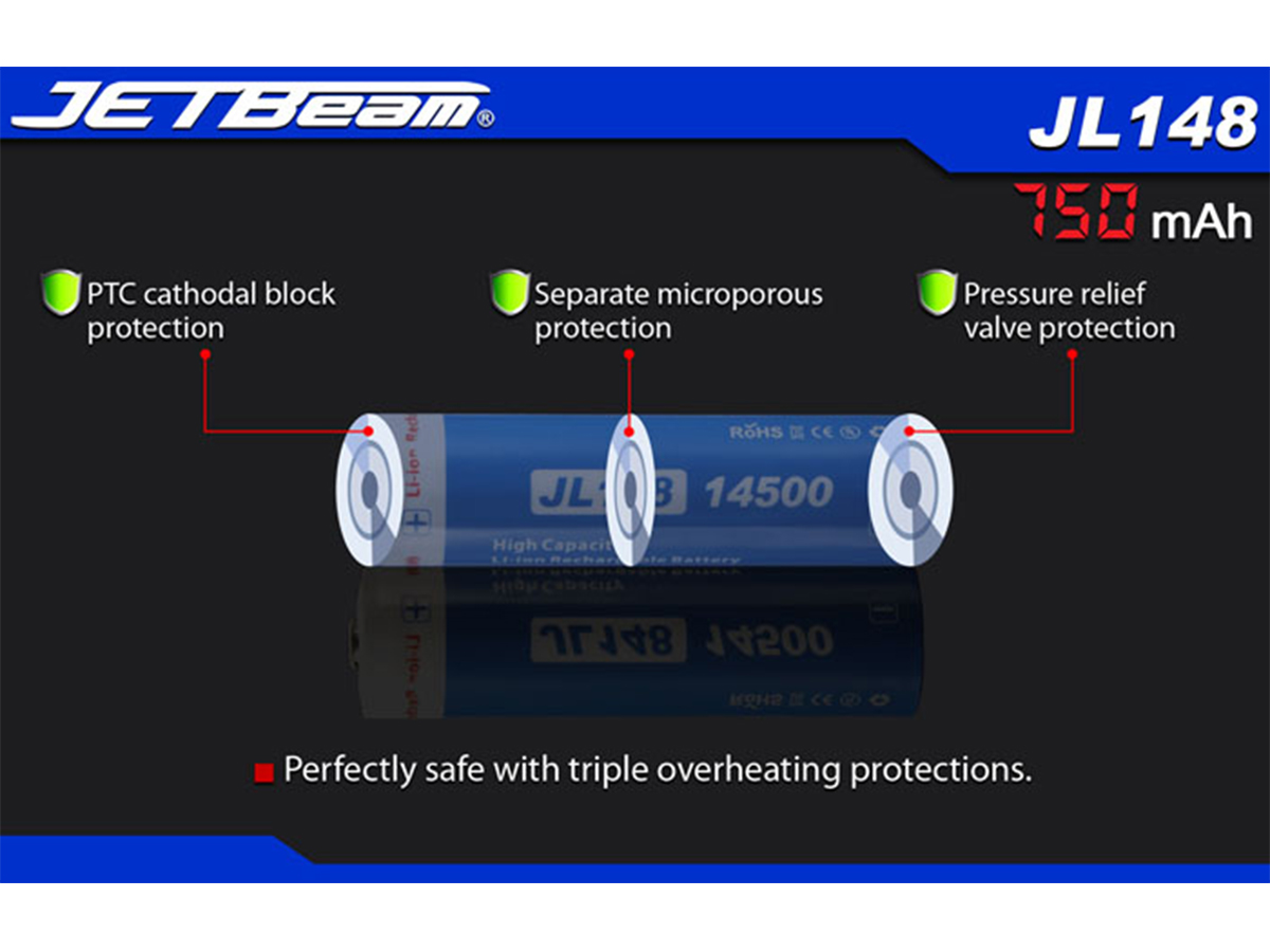 Slide one for JETBeam JL148 14500 battery