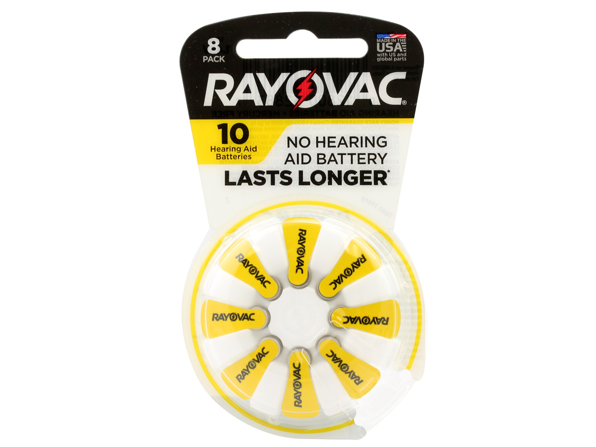 Rayovac 10-8 Size 10 Hearing Aid Batteries