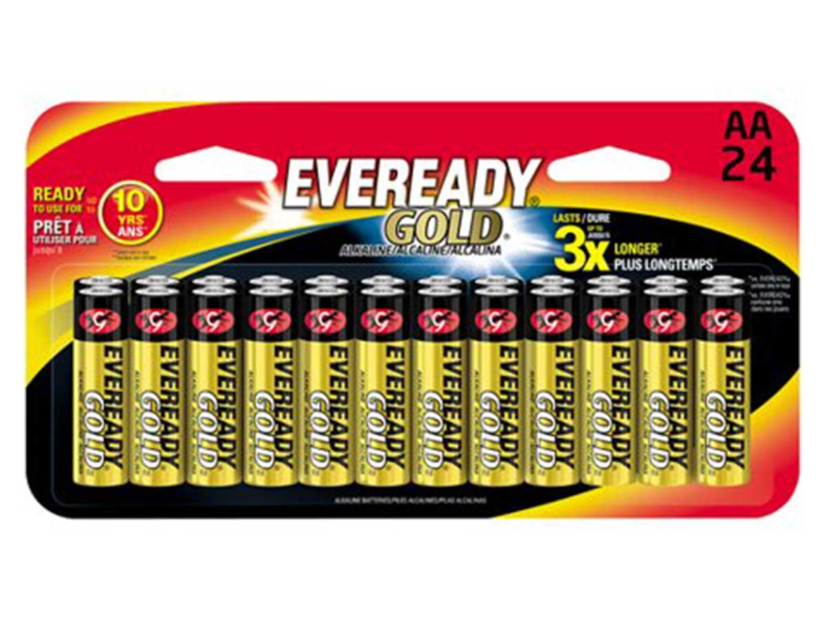Energizer Eveready Gold AA Batteries 12 Count