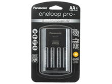 Panasonic Eneloop Pro 4-Position Charger with 4 x 2550mAh NiMH Low Self Discharge AA Batteries (K-KJ17KHCA4A)