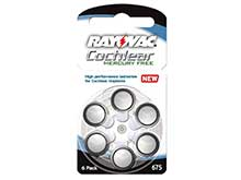 Rayovac R-675CPMF-6 XE (6PK) Size 675 1.45V Zinc Air Blue Hearing Aid Batteries - 6 Blister Pack