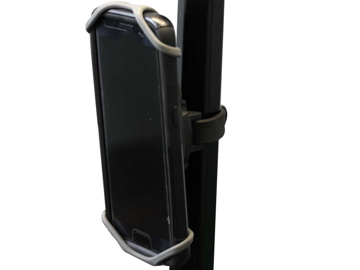 Attached to a pole
