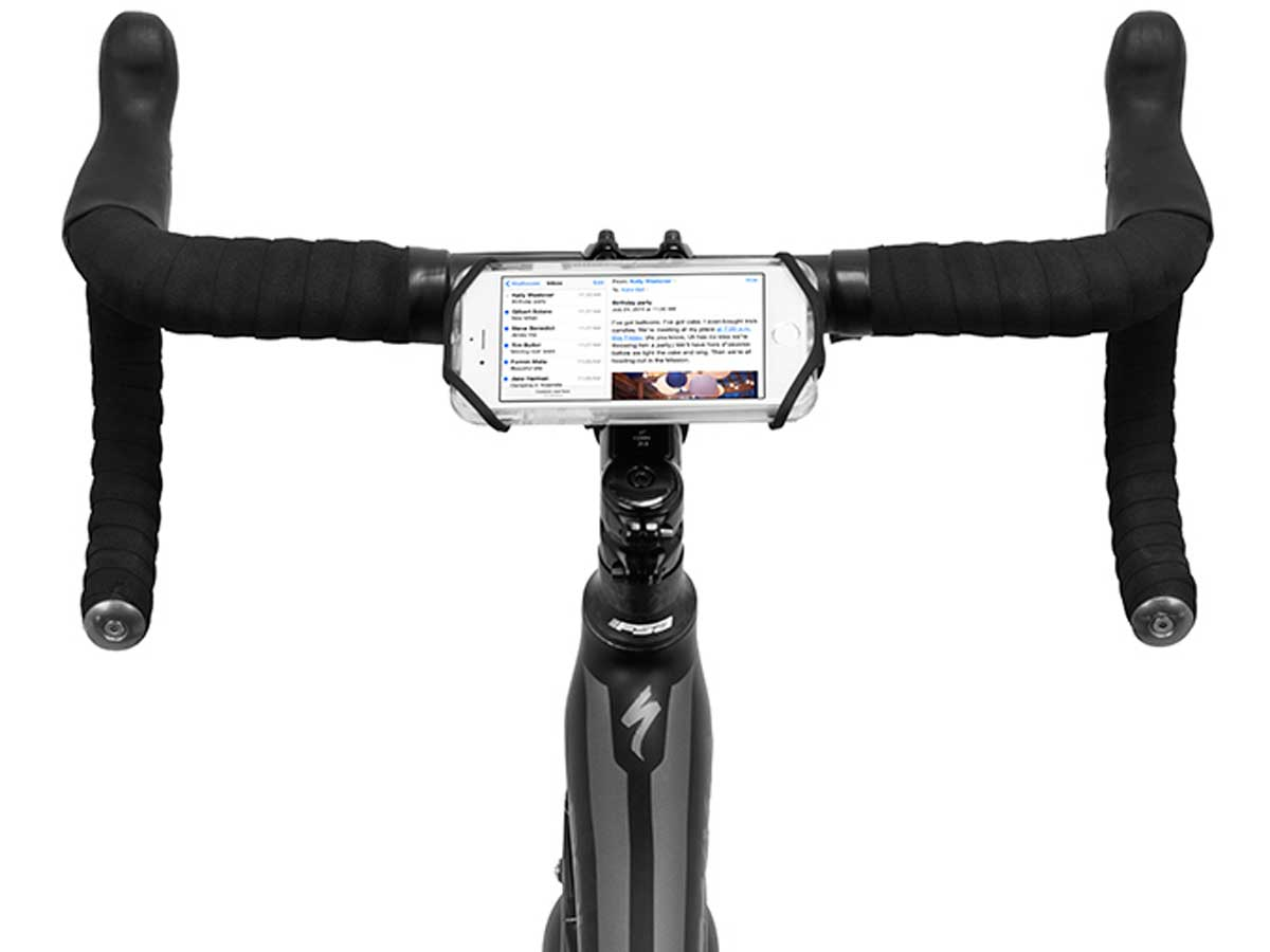 Stretching case attached to a bikes handle bars