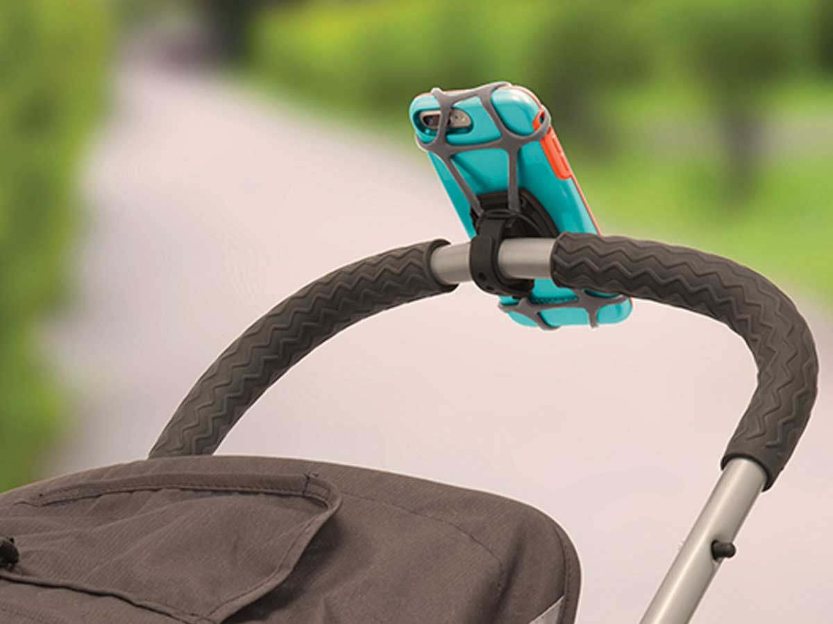Phone attached to a stroller