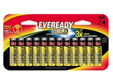 Energizer Eveready Gold AA 1.5V Alkaline Button Top Batteries - 24 Piece Retail Card (A91BP24H)