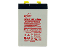 Enersys NP4-6 4Ah 6V Rechargeable Sealed Lead Acid (SLA) Battery - F1 Terminal
