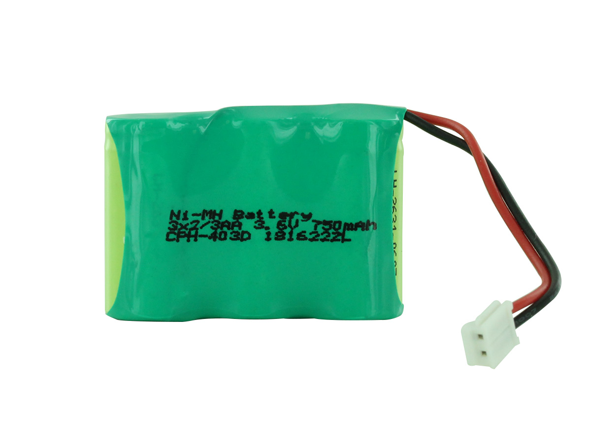 Empire 3 x 2/3 AA battery pack upright with D connector - NiMH