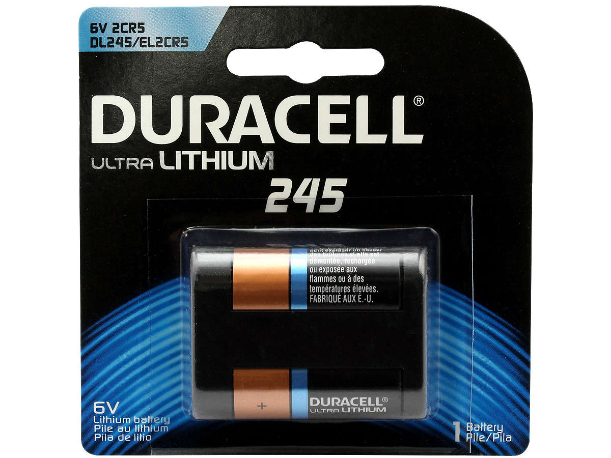 Duracell Ultra 245 battery in retail card