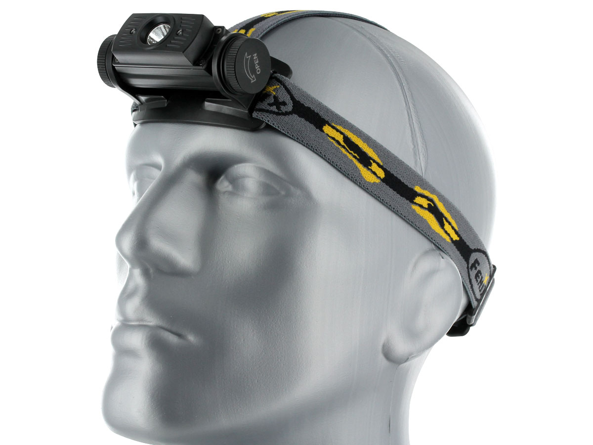 Fenix HL60R headlamp in black left side angle