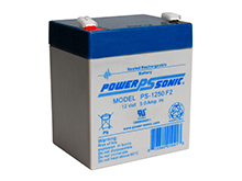 Power-Sonic AGM General Purpose PS-1250 5Ah 12V Rechargeable Sealed Lead Acid (SLA) Battery - F2 Terminal