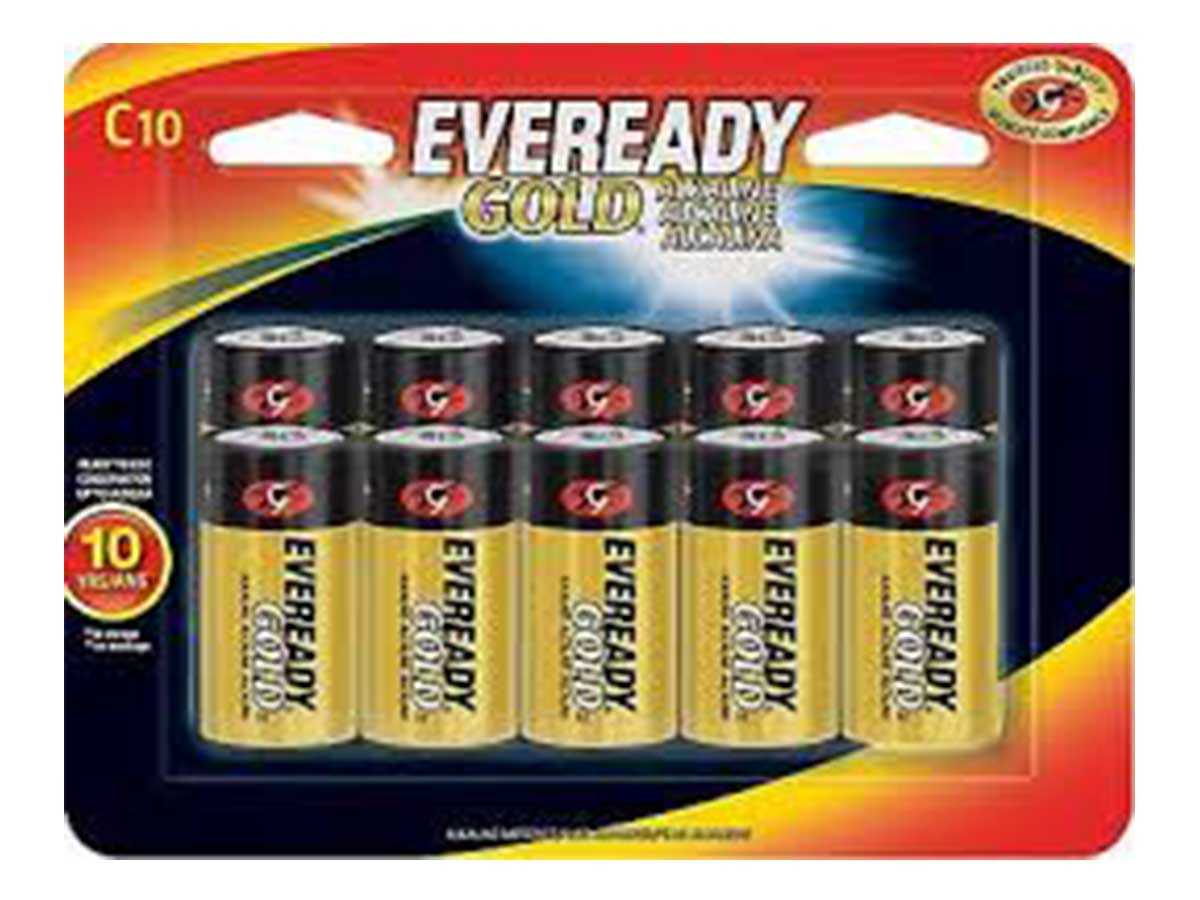 Energizer Eveready Gold C-cell - 10 Pack