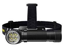 Nitecore HC35 Rechargeable LED Headlamp - 4 x CREE XP-G3 S3 - 2700 Lumens - Includes 1 x 21700