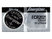 Energizer ECR2025 155mAh 3V Lithium (LiMNO2) Coin Cell Battery - 1 Piece Tear Strip, Sold Individually